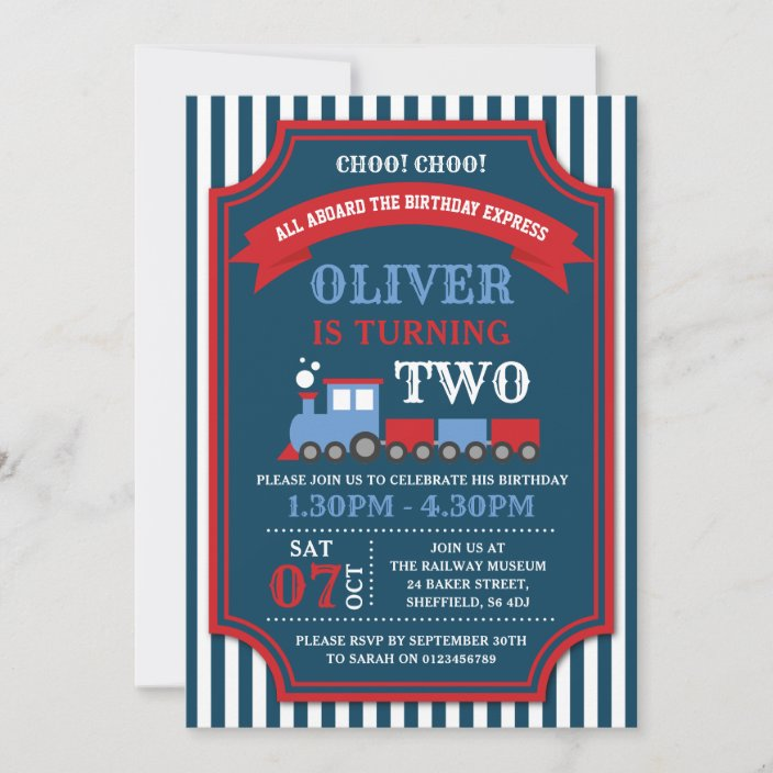 train birthday party invitation zazzle com