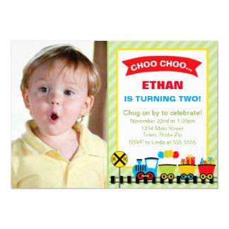 Train Birthday Party Invitation 5x7 Card
