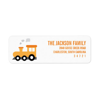 Train Birthday Party Label