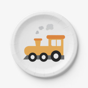 Train Birthday Party Paper Plate  sc 1 st  Zazzle & Railroad Track Plates | Zazzle