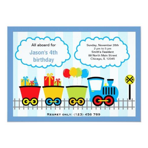 Train Birthday Personalized Invite