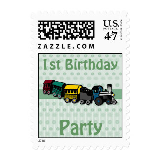 Train Birthday Stamp
