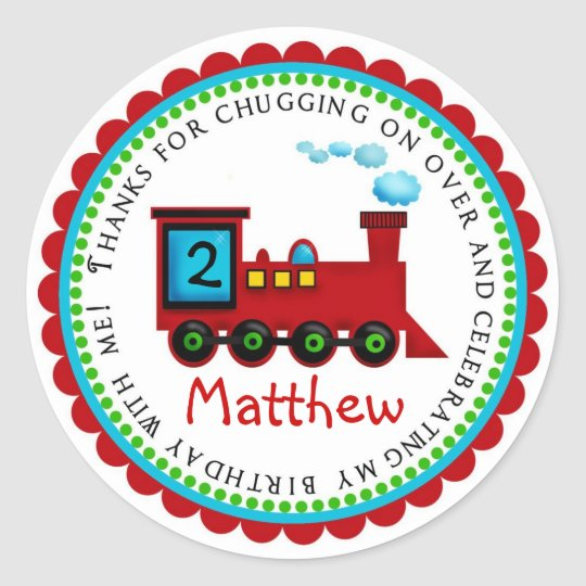 Train Birthday Stickers