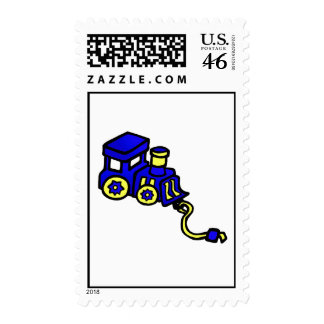 train blue stamps