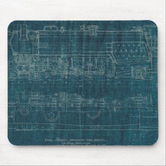 Train Blueprint I Mouse Pad
