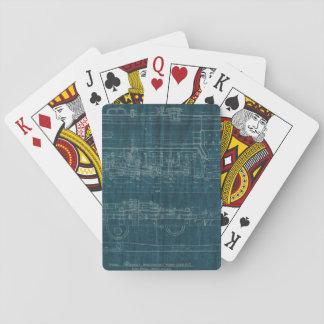 Train Blueprint I Playing Cards