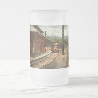 Train - Boarding the Scranton Trolley Frosted Glass Beer Mug