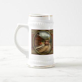 Train - Boarding the Scranton Trolley Coffee Mug