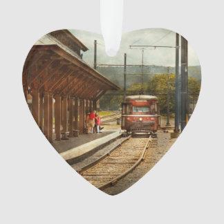 Train - Boarding the Scranton Trolley Ornament