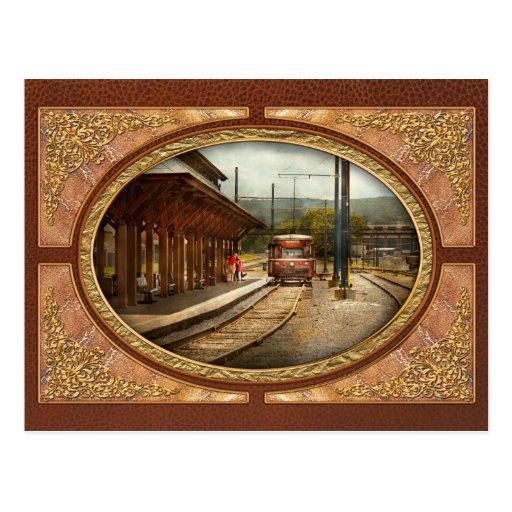 Train - Boarding the Scranton Trolley Post Card