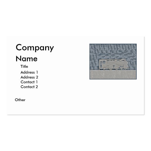 Train Double-Sided Standard Business Cards (Pack Of 100)