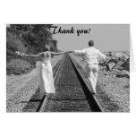 Train BW, Thank you! Greeting Card