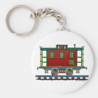 Train Caboose Car Key Chains