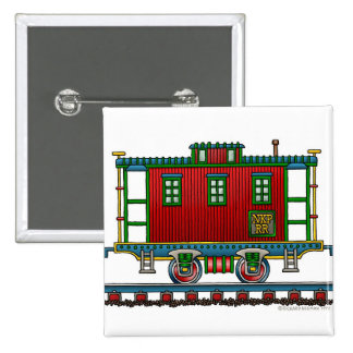 Train Caboose Car Railroad Pins