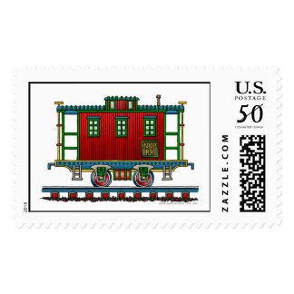 Train Caboose Car Railroad Stamps