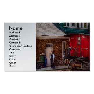 Train - Caboose - End of the line Business Card Templates