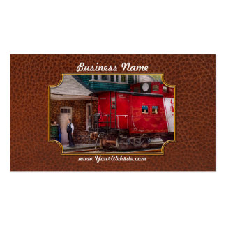 Train - Caboose - End of the line Business Card Template