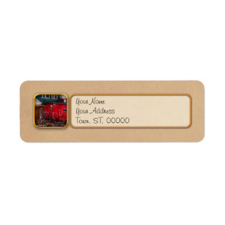 Train - Caboose - End of the line Label