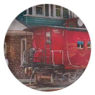 Train - Caboose - End of the line Plate