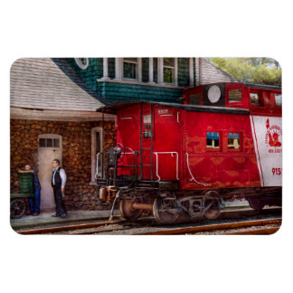 Train - Caboose - End of the line Rectangular Photo Magnet