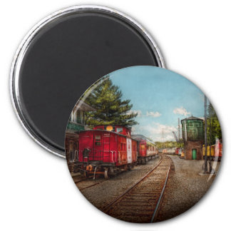 Train - Caboose - Tickets Please 2 Inch Round Magnet