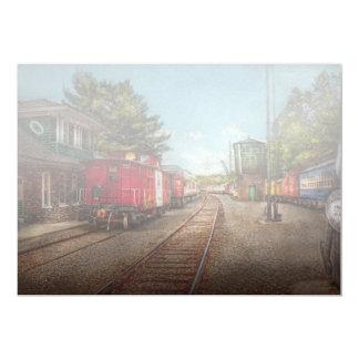 Train - Caboose - Tickets Please 5x7 Paper Invitation Card