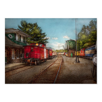 Train - Caboose - Tickets Please 5x7 Paper Invitation Card