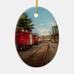 Train - Caboose - Tickets Please Christmas Tree Ornaments