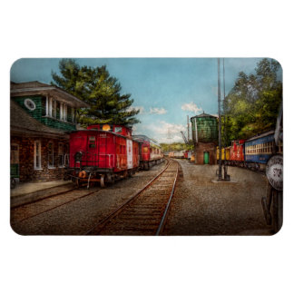 Train - Caboose - Tickets Please Rectangular Photo Magnet