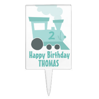 Train Car Birthday Cake Topper