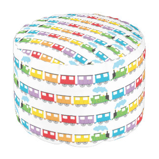 Train & Carriages Pouf Round Pouf