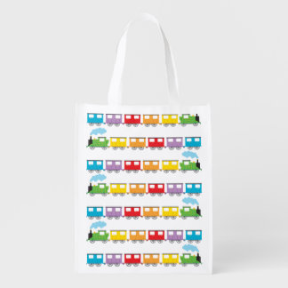 Train &  Carriages Reusable Grocery Bag