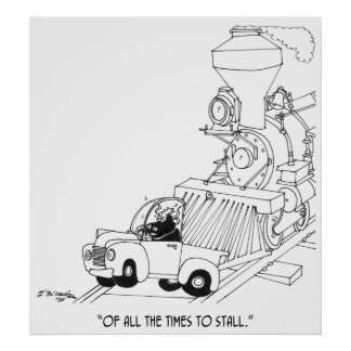 Train Cartoon 3230 Poster