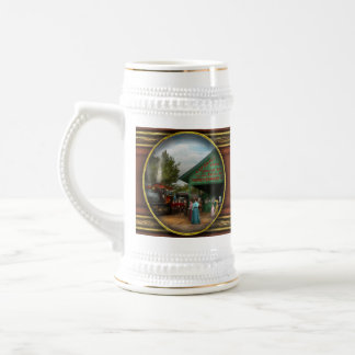 Train - Catskill, NY - Waiting for departure 1902 18 Oz Beer Stein