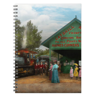 Train - Catskill, NY - Waiting for departure 1902 Notebook
