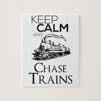 train chase design cute jigsaw puzzle