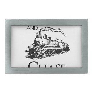 train chase design cute rectangular belt buckle