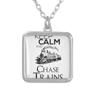 train chase design cute silver plated necklace