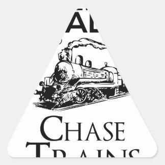 train chase design cute triangle sticker