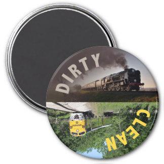 Train Clean Dirty Dishwasher Magnet