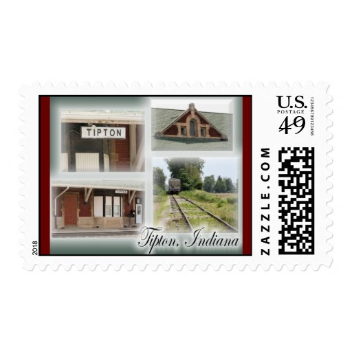Train Collage Postage
