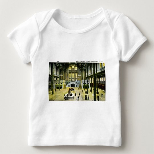 Train Concourse at Chicago Union Station Vintage Baby T-Shirt