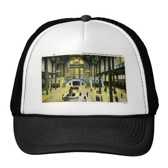 Train Concourse  Chicago Illinois Union Station Trucker Hat