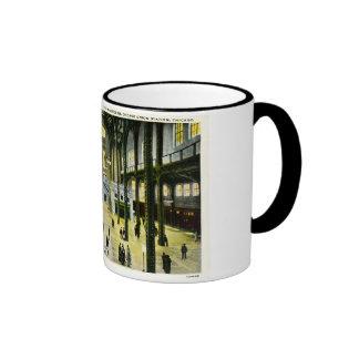 Train Concourse Chicago Union Station - Vintage Coffee Mugs
