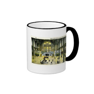 Train Concourse Chicago Union Station  Vintage Ringer Coffee Mug