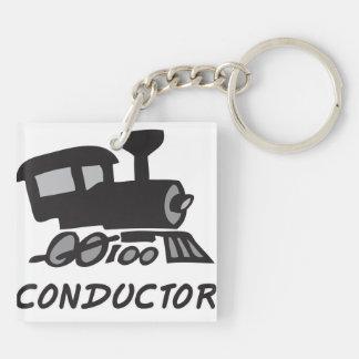 Train Conductor Keychain