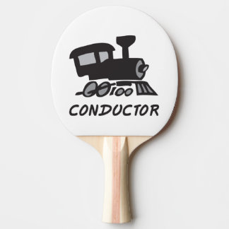 Train Conductor Ping Pong Paddle