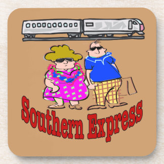 Train Couple, Southern Express, Drink Coaster
