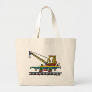 Train Crane Car Maintenance Car Bags/Totes