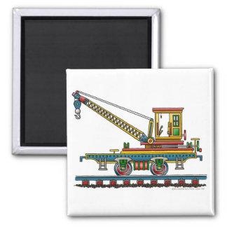 Train Crane Car Maintenance Car Magnets